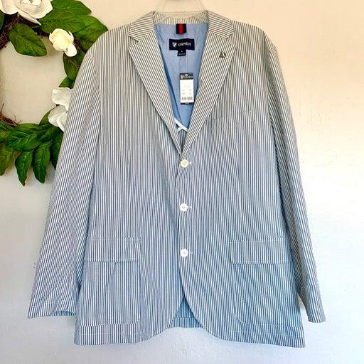NWT Cremieux Seersucker Blue Sport Coat