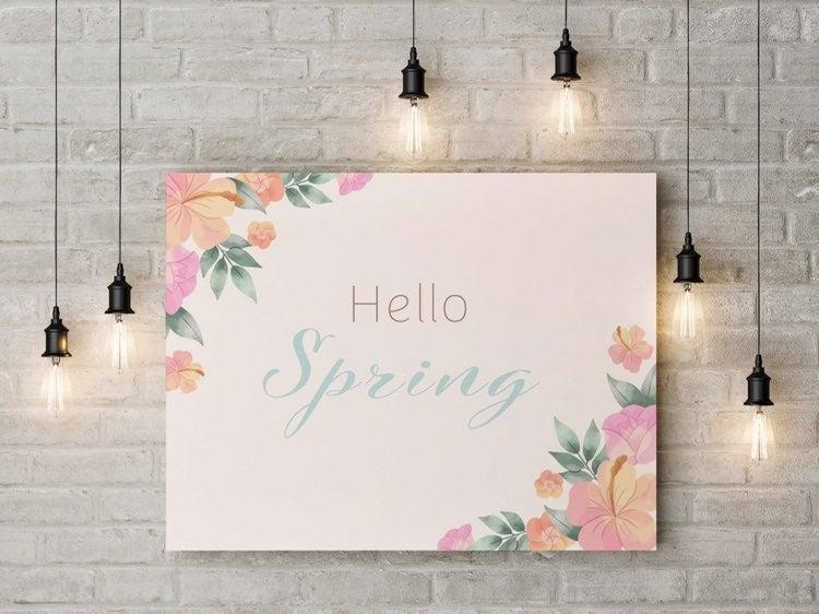 Canvas Wall Art- Hello Spring