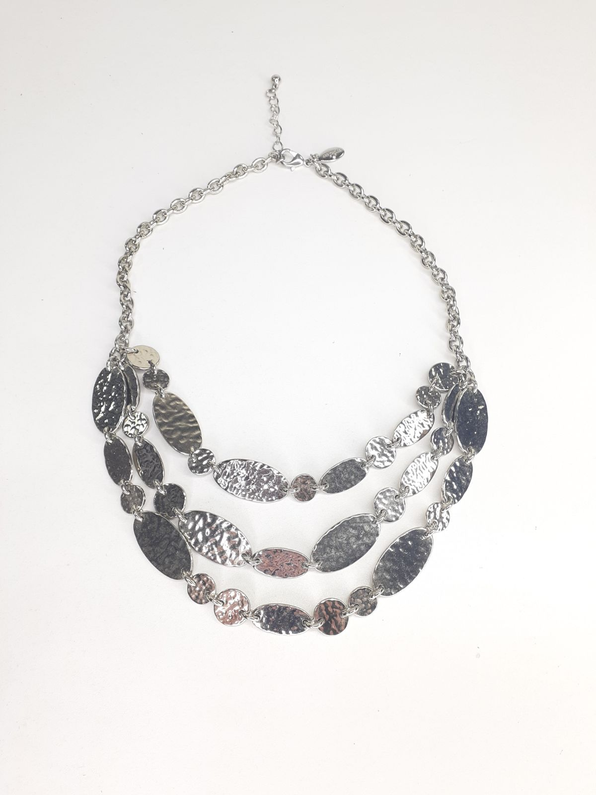 Ann Taylor Silver Hammered Necklace