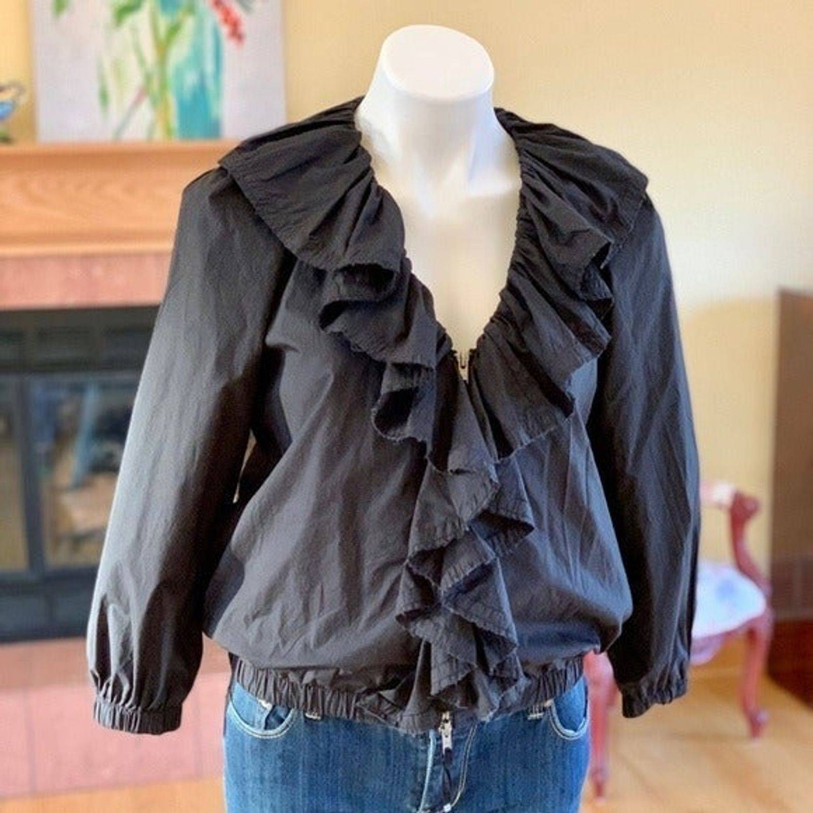 Juicy Couture Ruffle Bomber Jacket Sz M