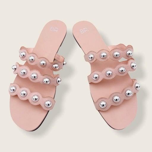 BP. Nordstrom blush pink studded sandal