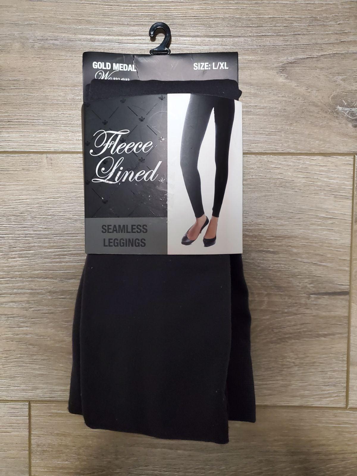 Leggings Fleece Lined seamless Sz L/XL