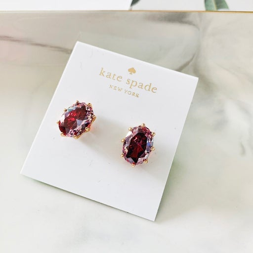 Kate Spade Oval Stone Earrings Lilac