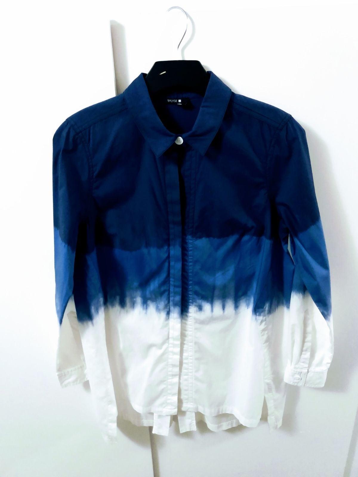 NWOT Bylyse Dip-Dye Button Down Shirt