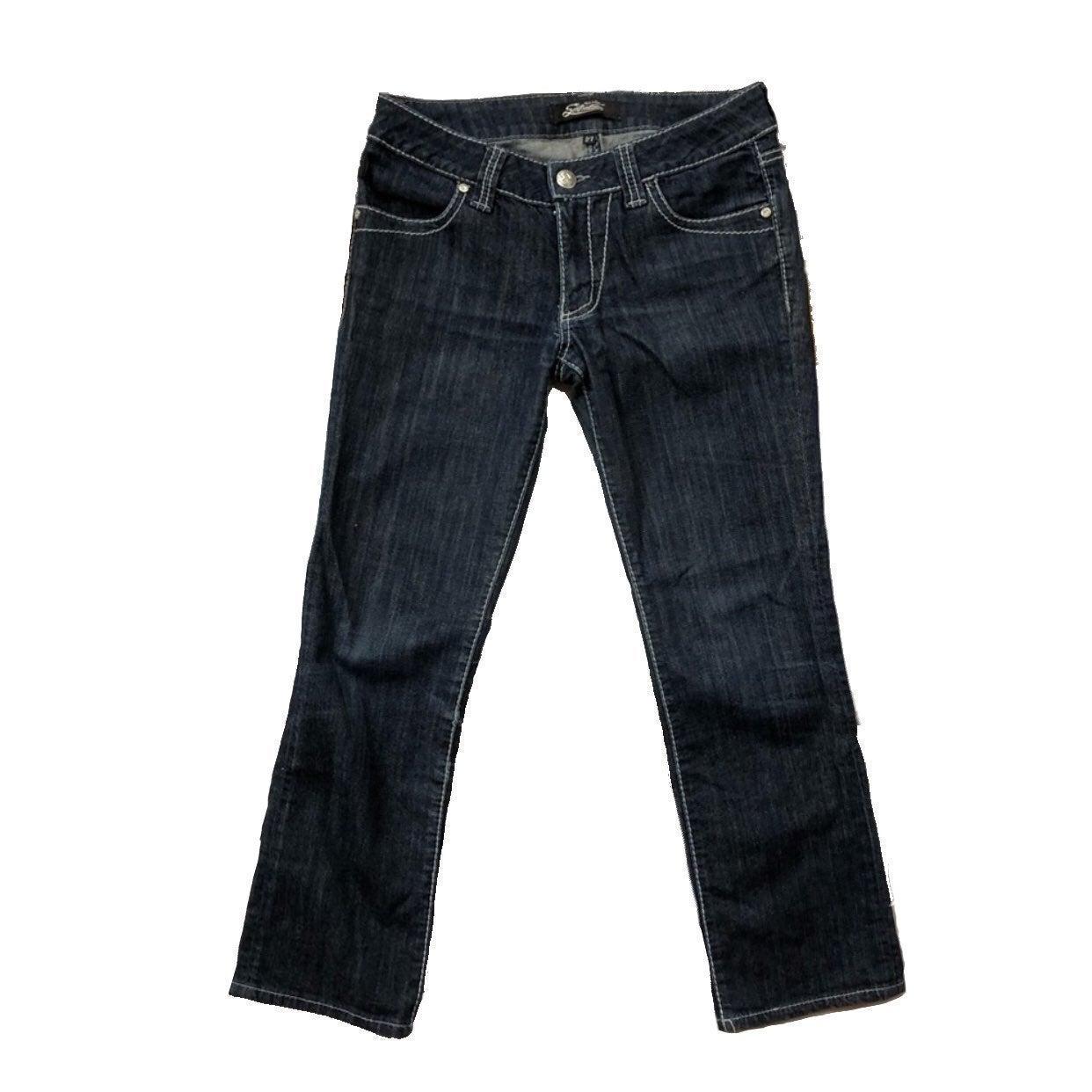 Serfontaine Dark Straight Ankle Jeans