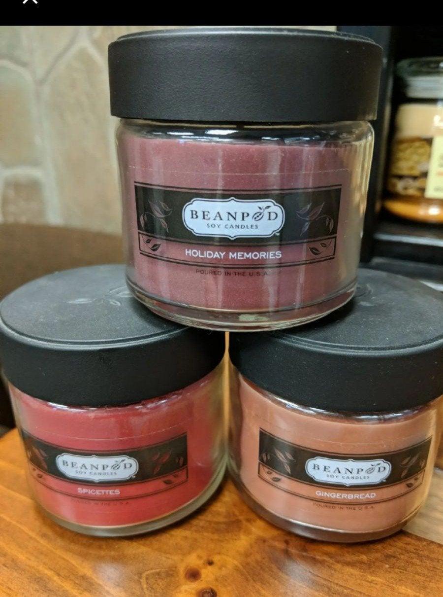Beanpod Holiday candle lot