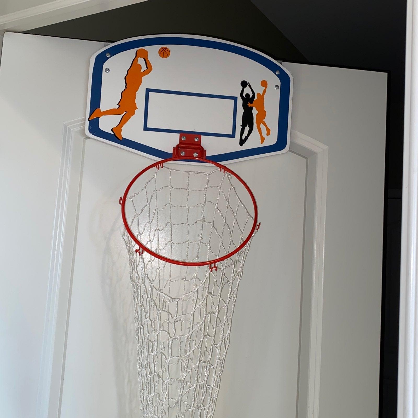 Basketball hoop hamper