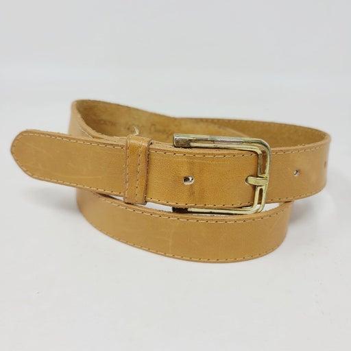 Omega Women's Vintage Leather Tan Belt s
