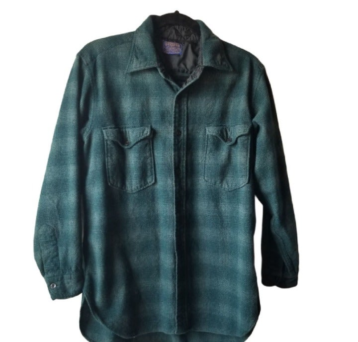 Pendleton Wool Button Up Flannel Green L