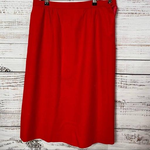 pendleton vintage red wool skirt
