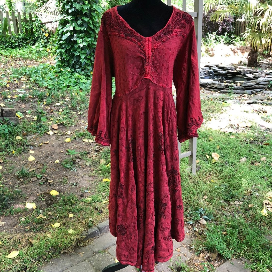 Agan Traders Red Medieval Vibes Dress