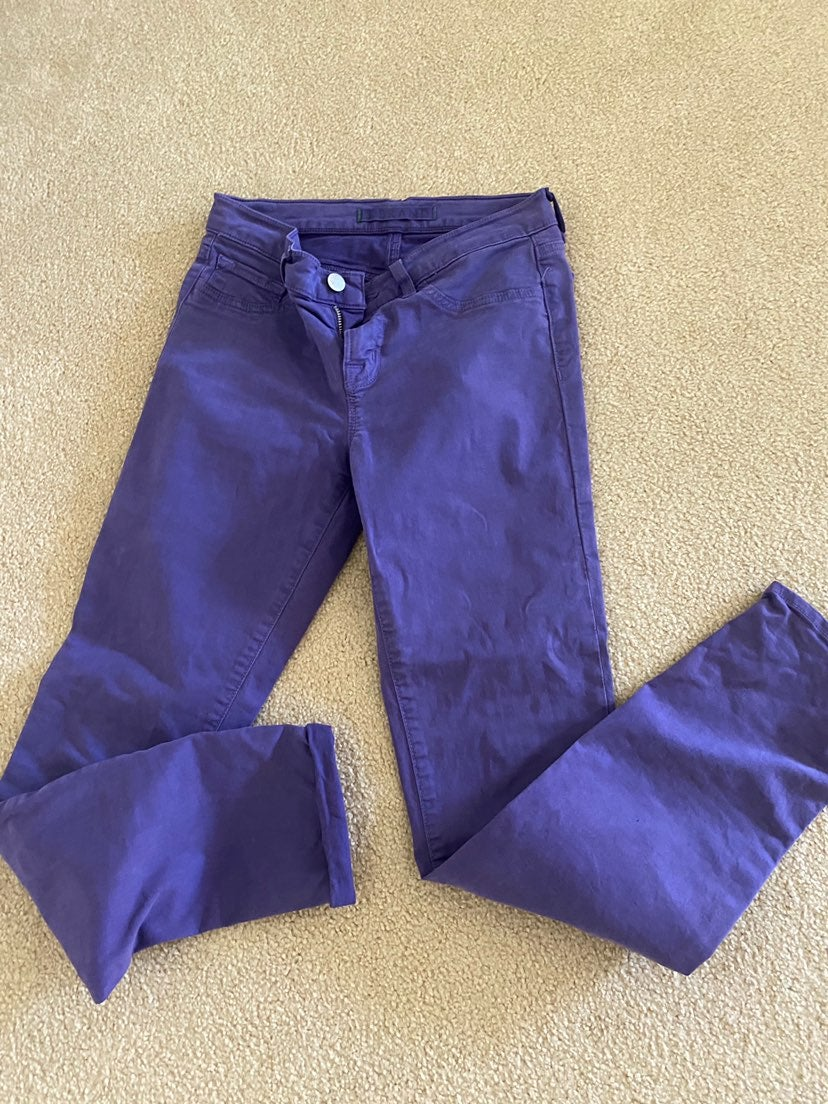 J Brans purple skinny 26