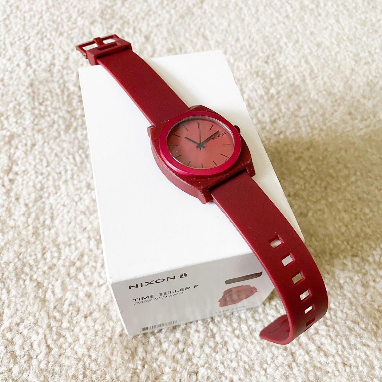 Nixon Pink Red Time Teller Watch