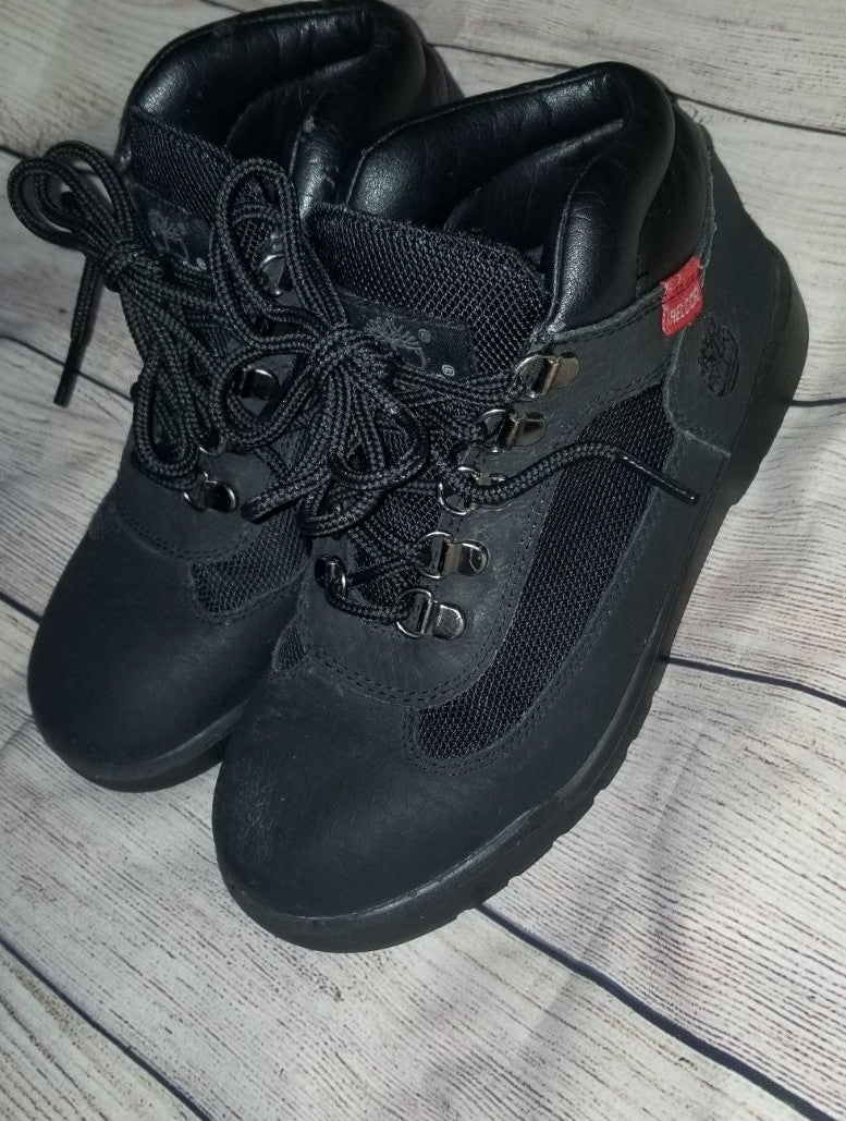 Youth Black on Black Timberland boots