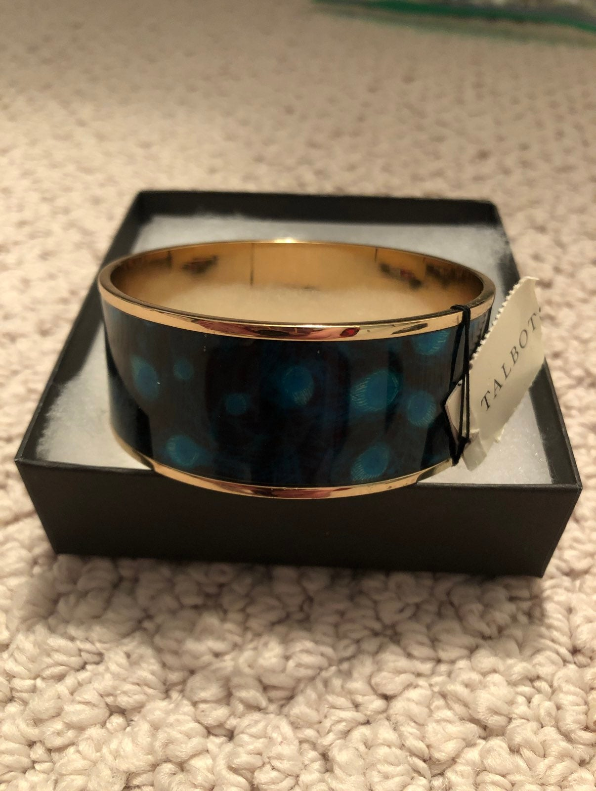 Talbots Blue and Gold Thick Bangle