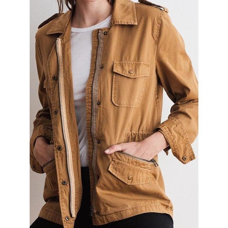 J. Crew Tan Chino Cotton Utility Jacket