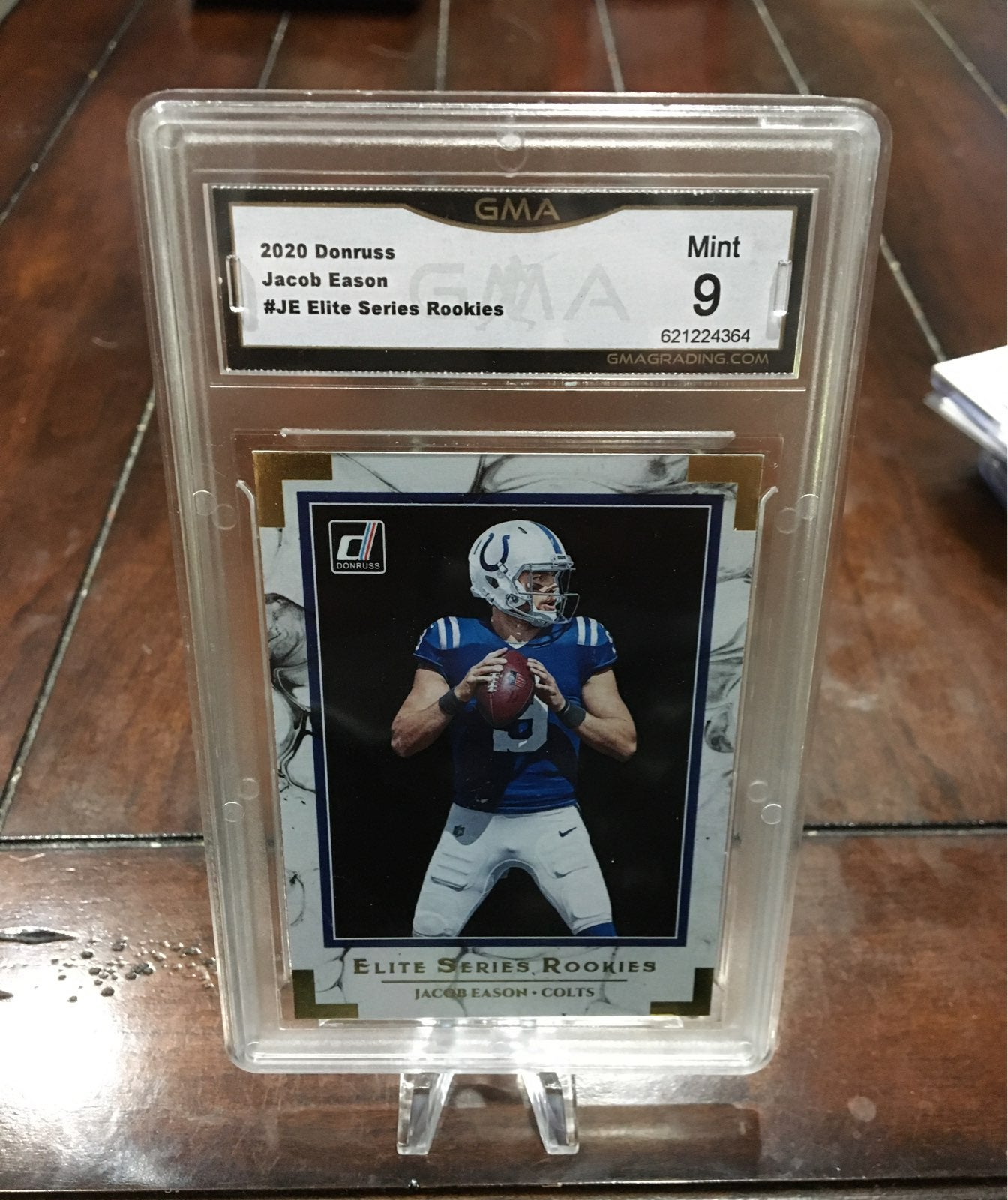 Jacob Eason Donruss Elite Rookie Slab