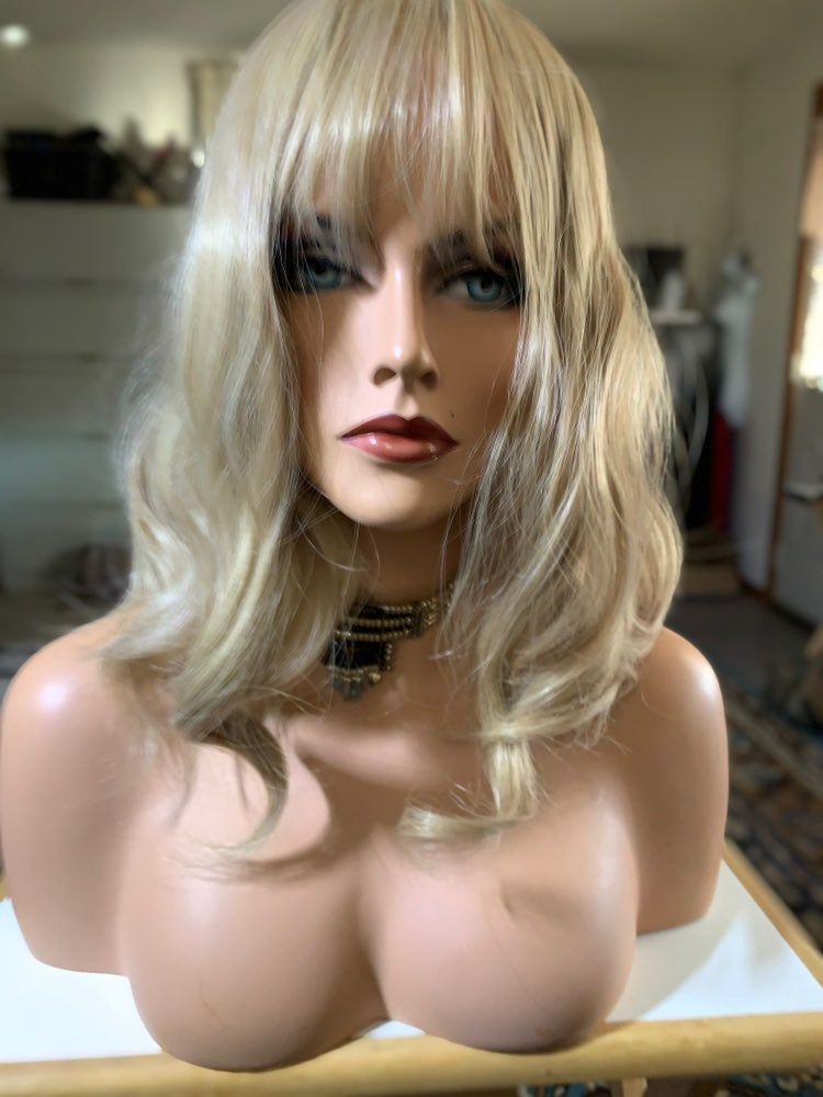 #220 ash blonde new synthetic wig final