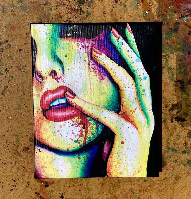 Rainbow Glamour Fashion Canvas Art Print