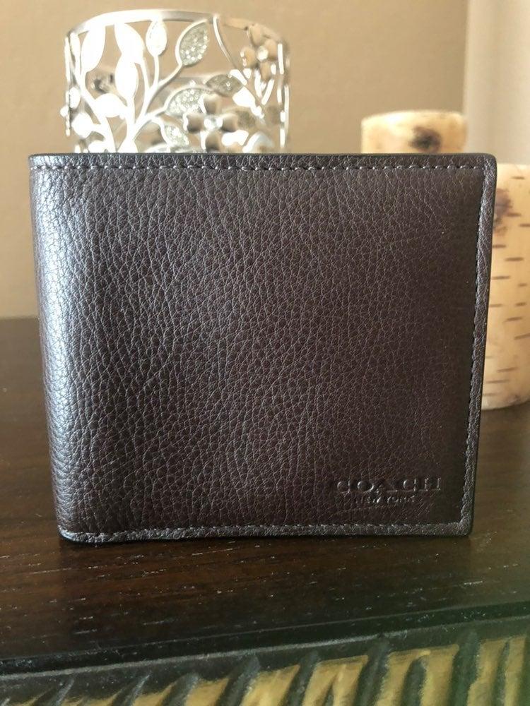 Coach wallet men brown new