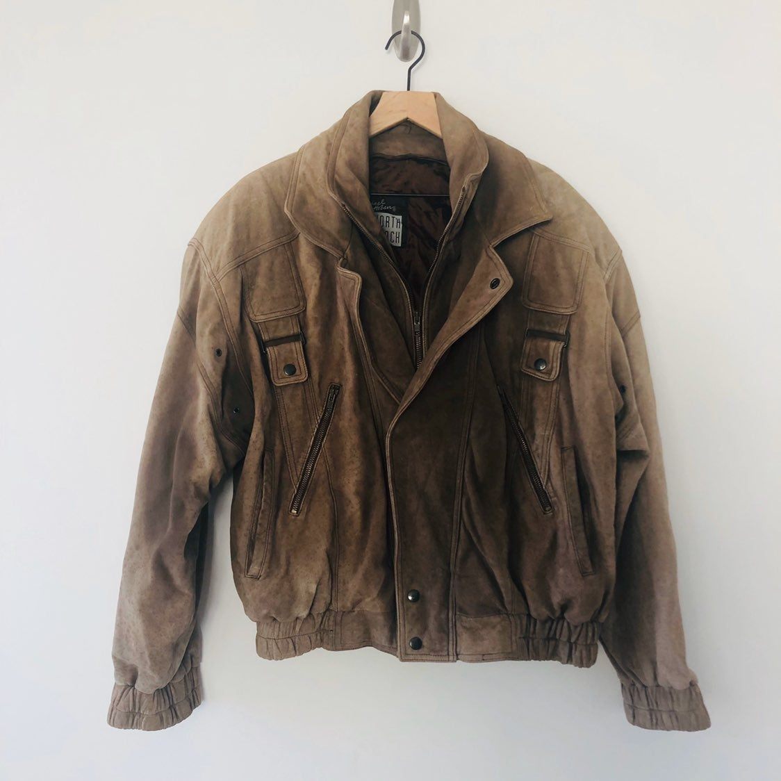 Michael Hoban men's Brown leather jacket