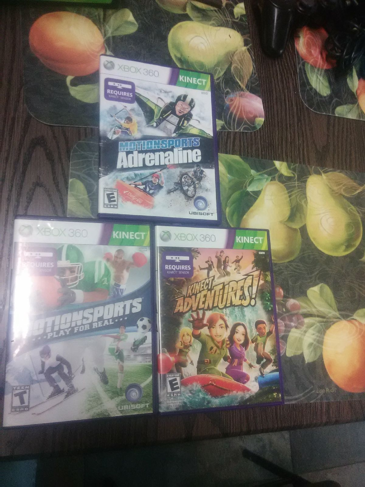 Lot Of 3 Xbox 360 Kinect Games