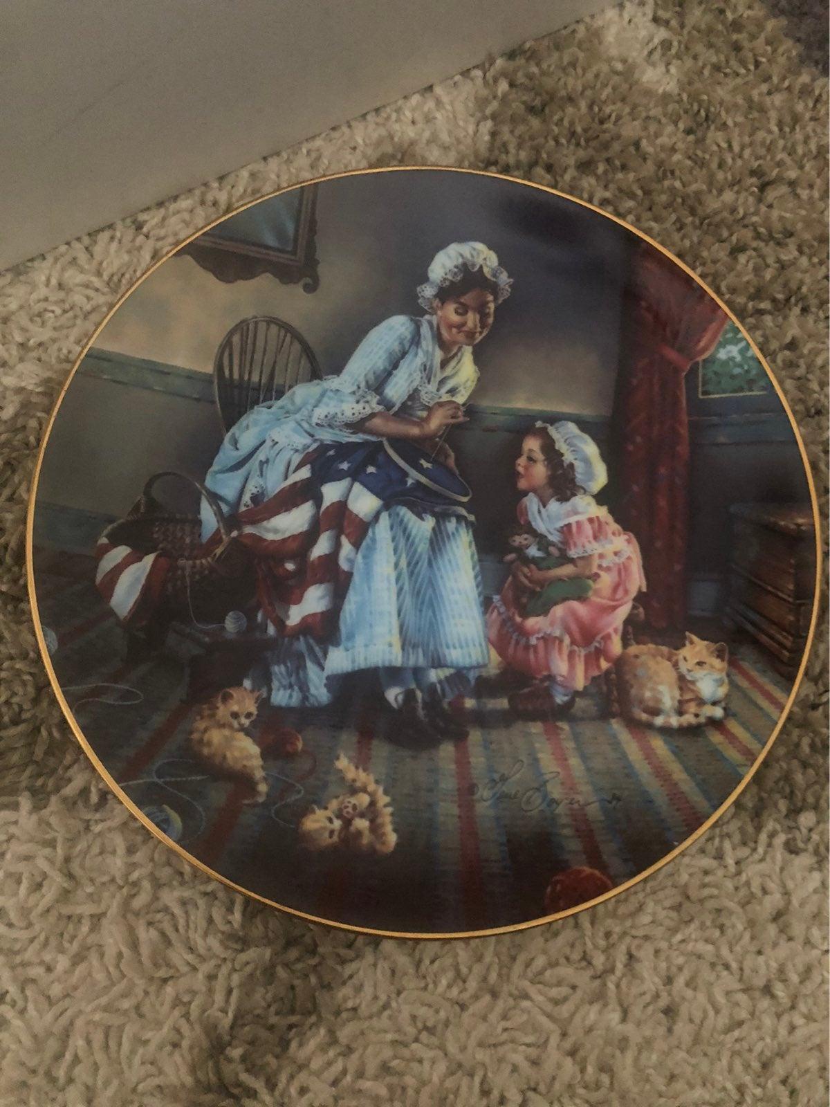 """Betsy Ross"" America's past."