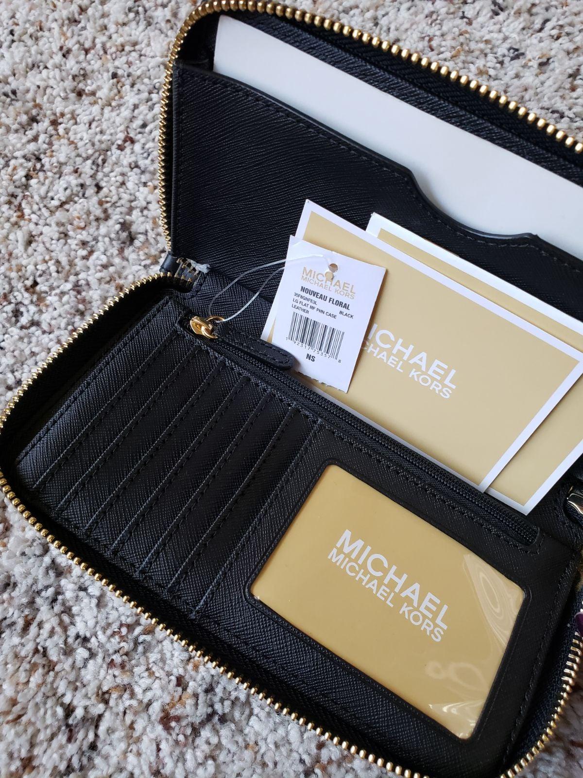 Michael Kors Nouveau Black Wallet $198
