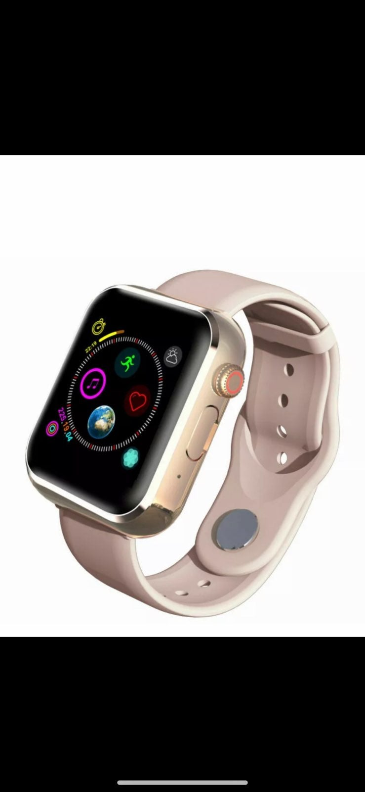 New Rose Gold Smart Watch iPhone Android