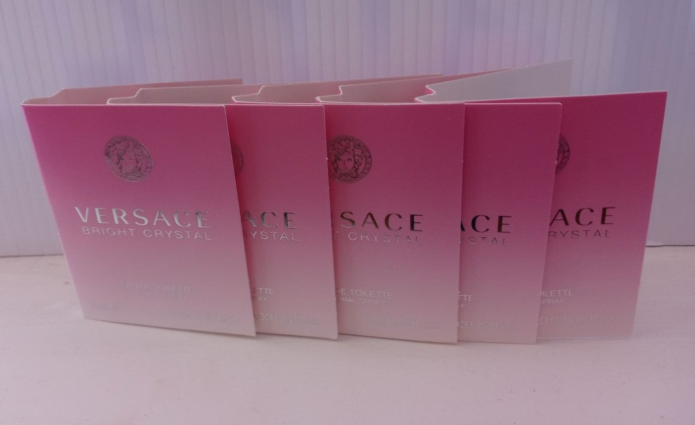 5 Versace Bright Crystal Spray 1ml/0.3oz