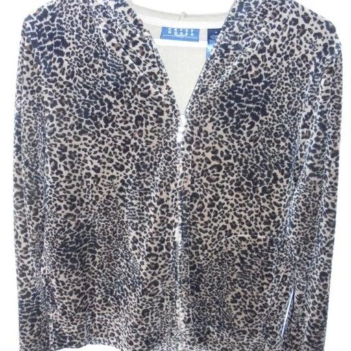 Women's Leopard Print Soft Jacket