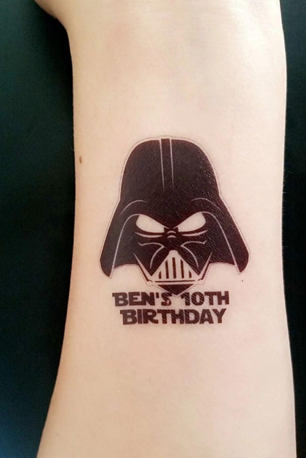 24 Darth Vader Tattos Birthday Party