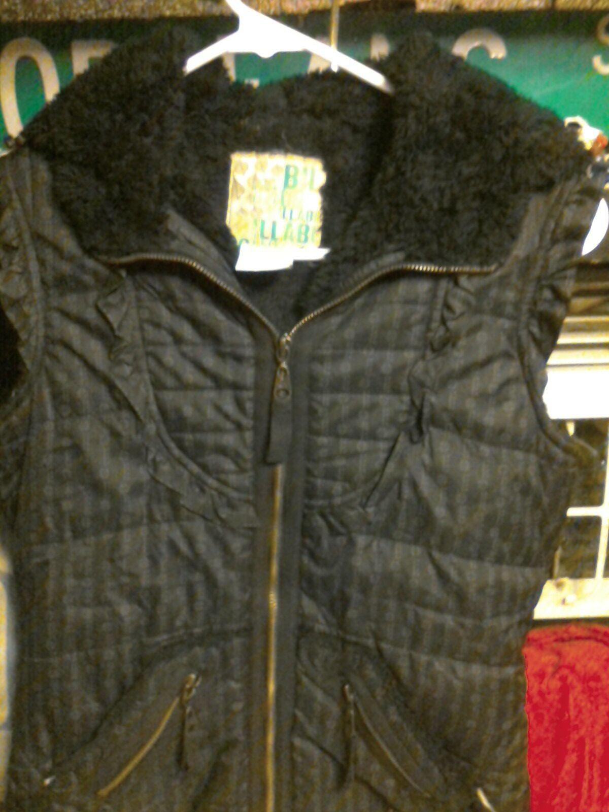 Billabong vest fur jacket size 8