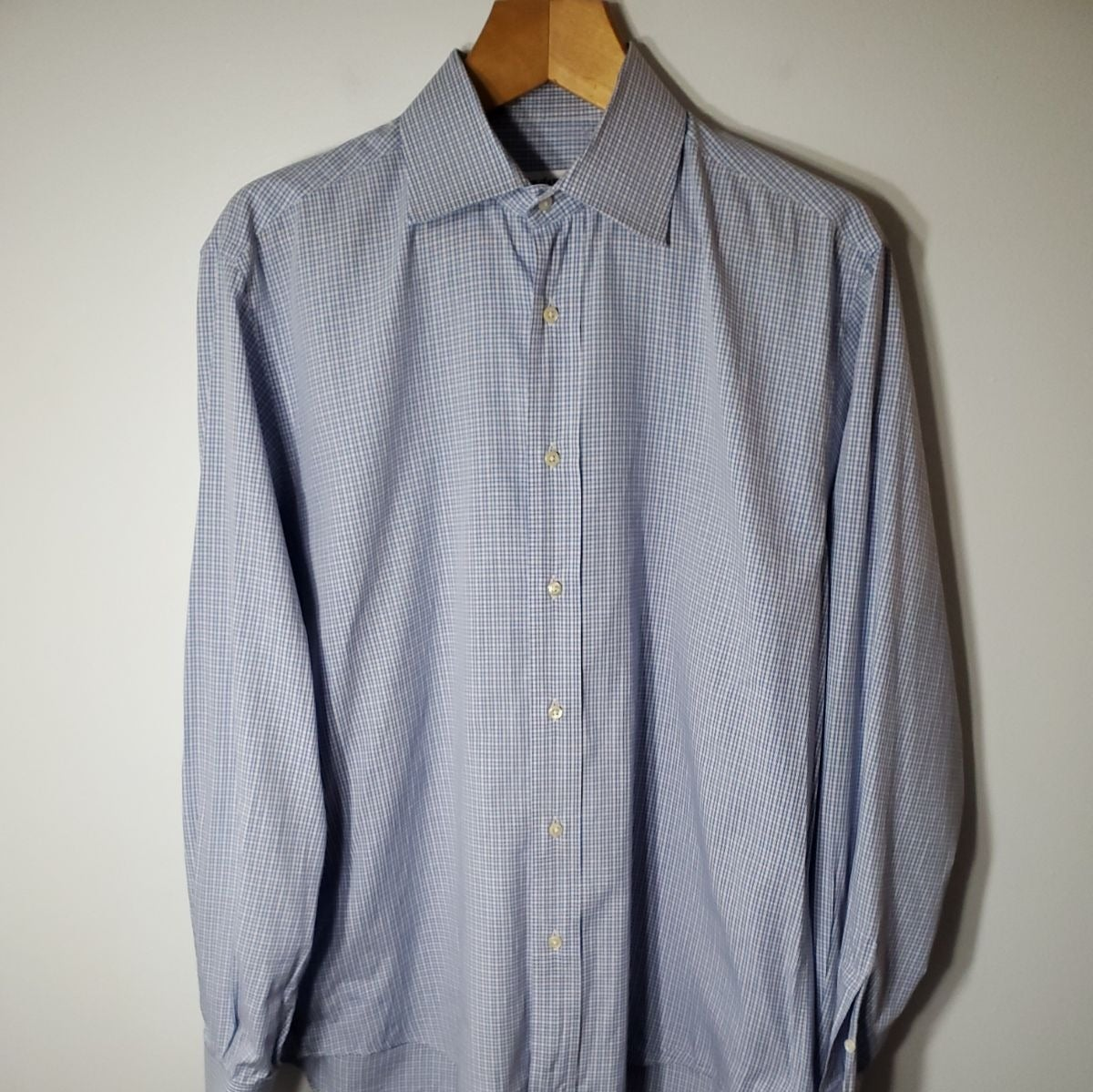 YSL Micro Check Dress Shirt