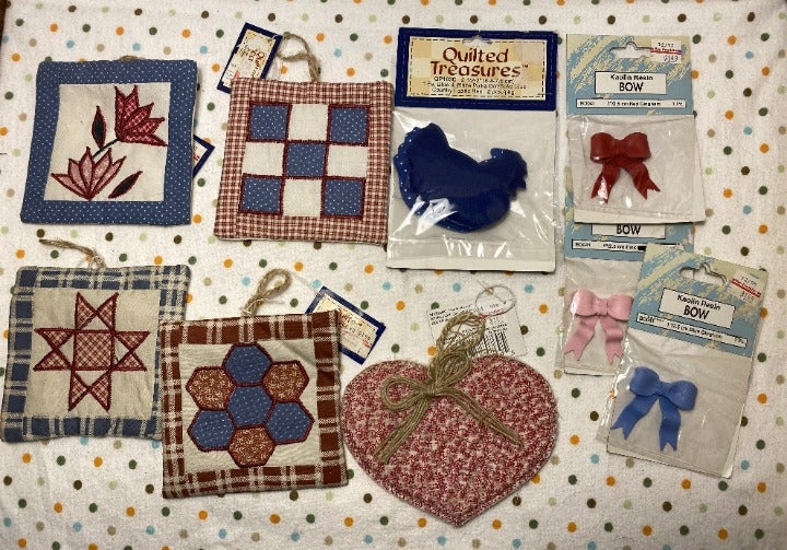 9 Piece Lot of Assorted  Craft Supplies