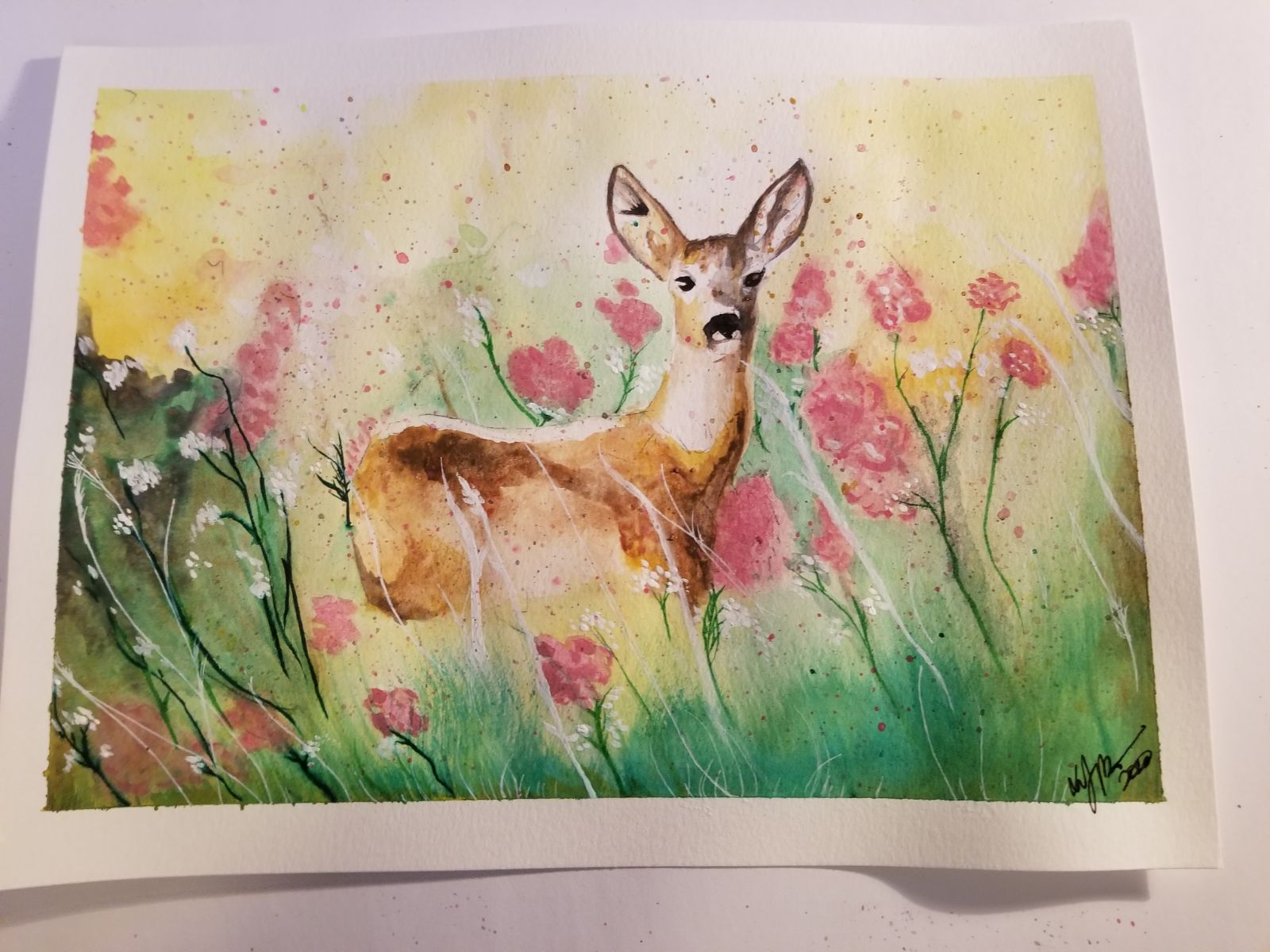Deer Painting Prismacolor