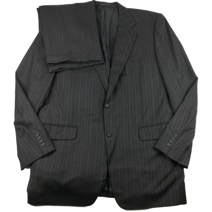 Canali 120s Flannel Wool Pinstripe Suit