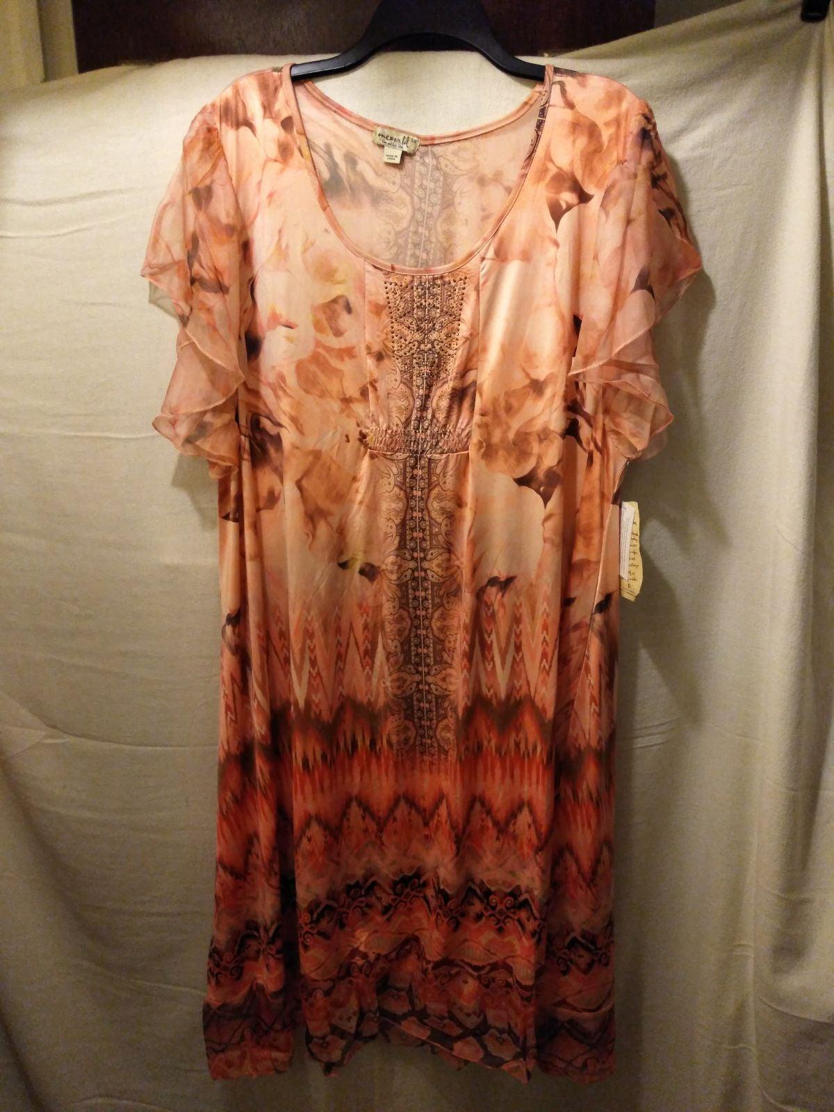 Women's plus size dress multicolor.