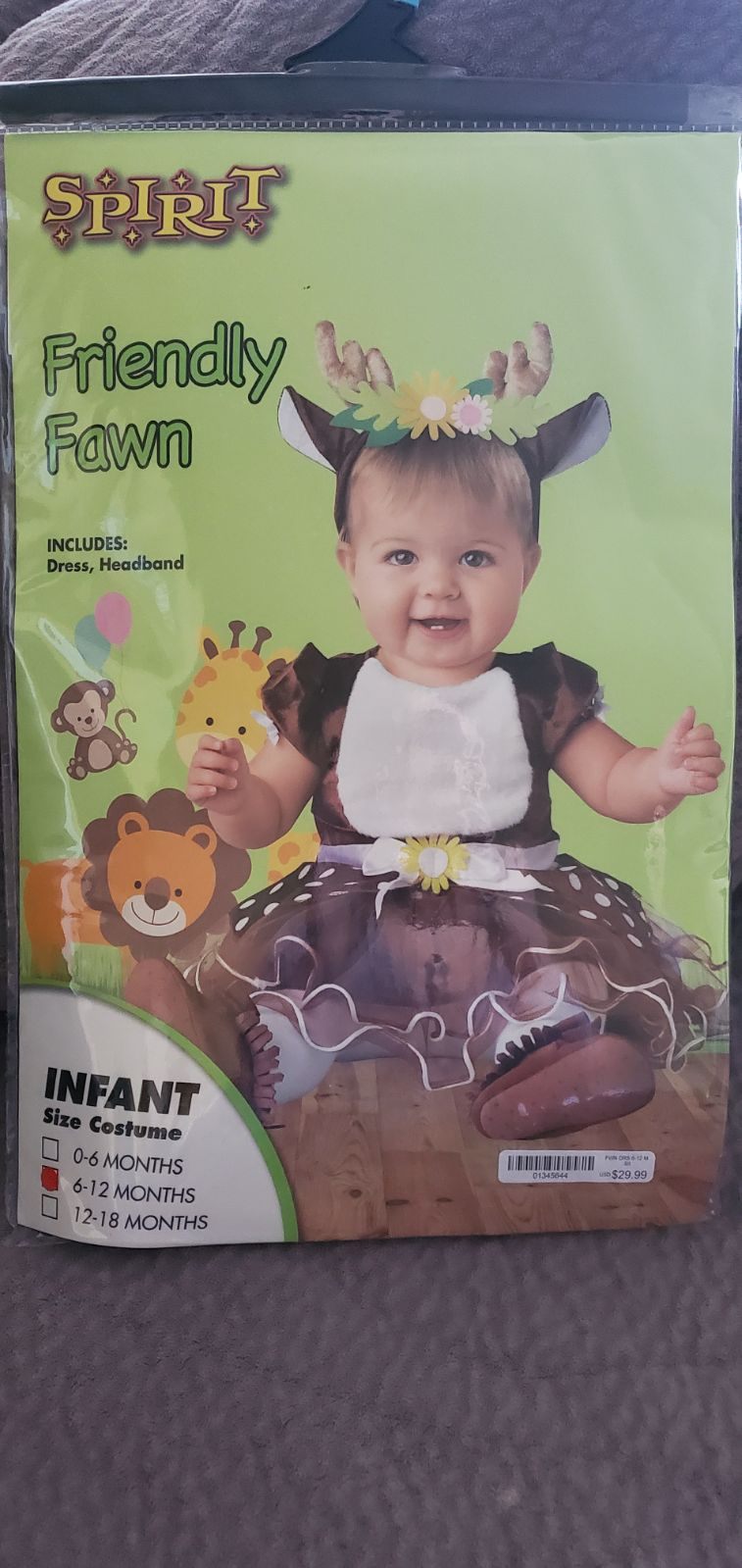 Friendly fawn costume for infants
