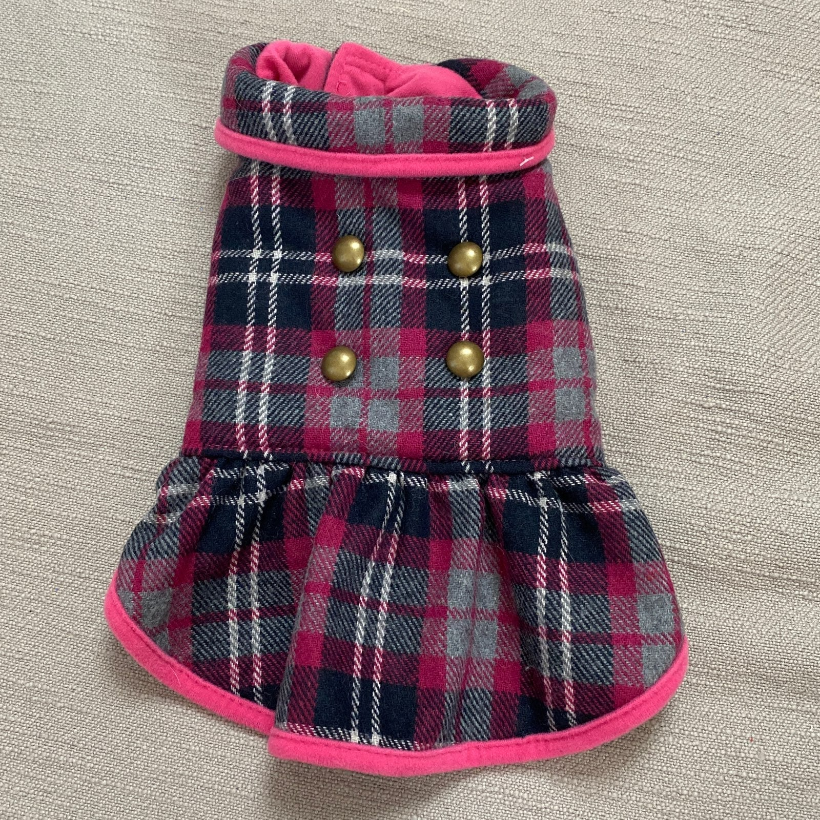 Plaid Doggy Outfit