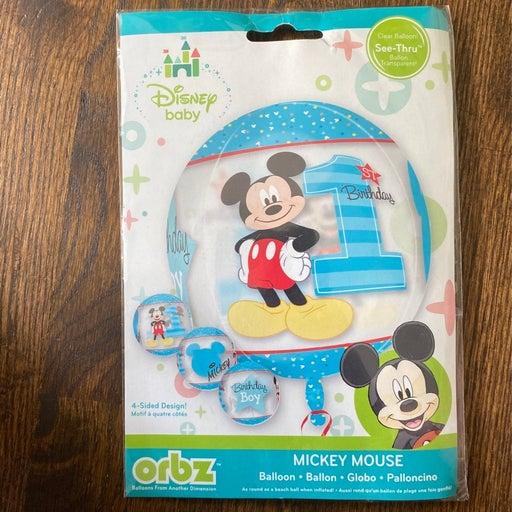 Mickey mouse 1st birthday boy balloon