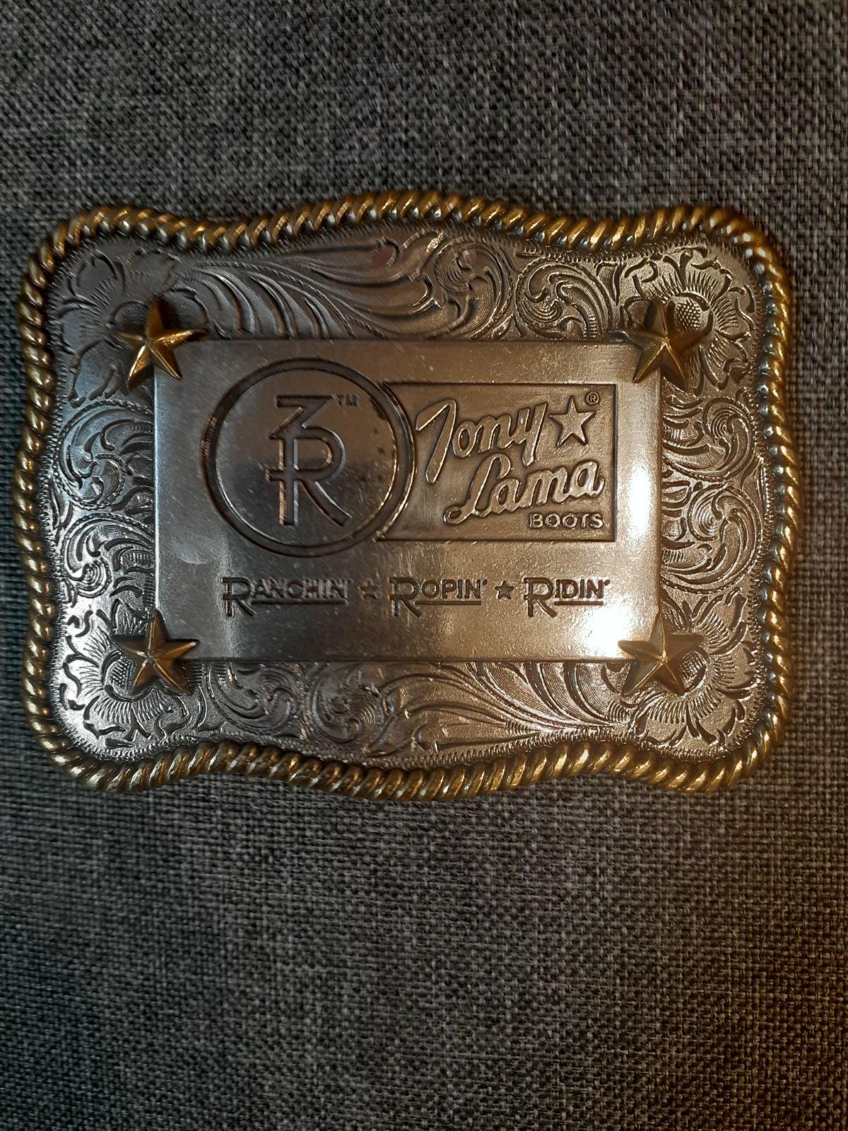 Tony Lama Trophy belt buckle