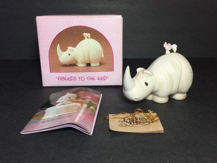 Precious Moments 104418 rhino figurine