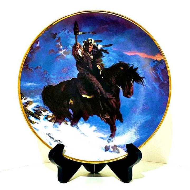 Franklin Mint Plate SPIRIT of WEST WIND
