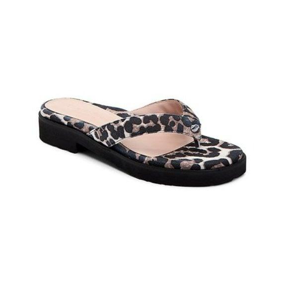 Taryn Rose Leopard Print Thong Sandal