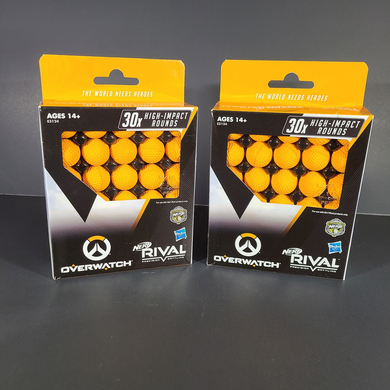 2 pack NERF Rival Overwatch Balls 30x