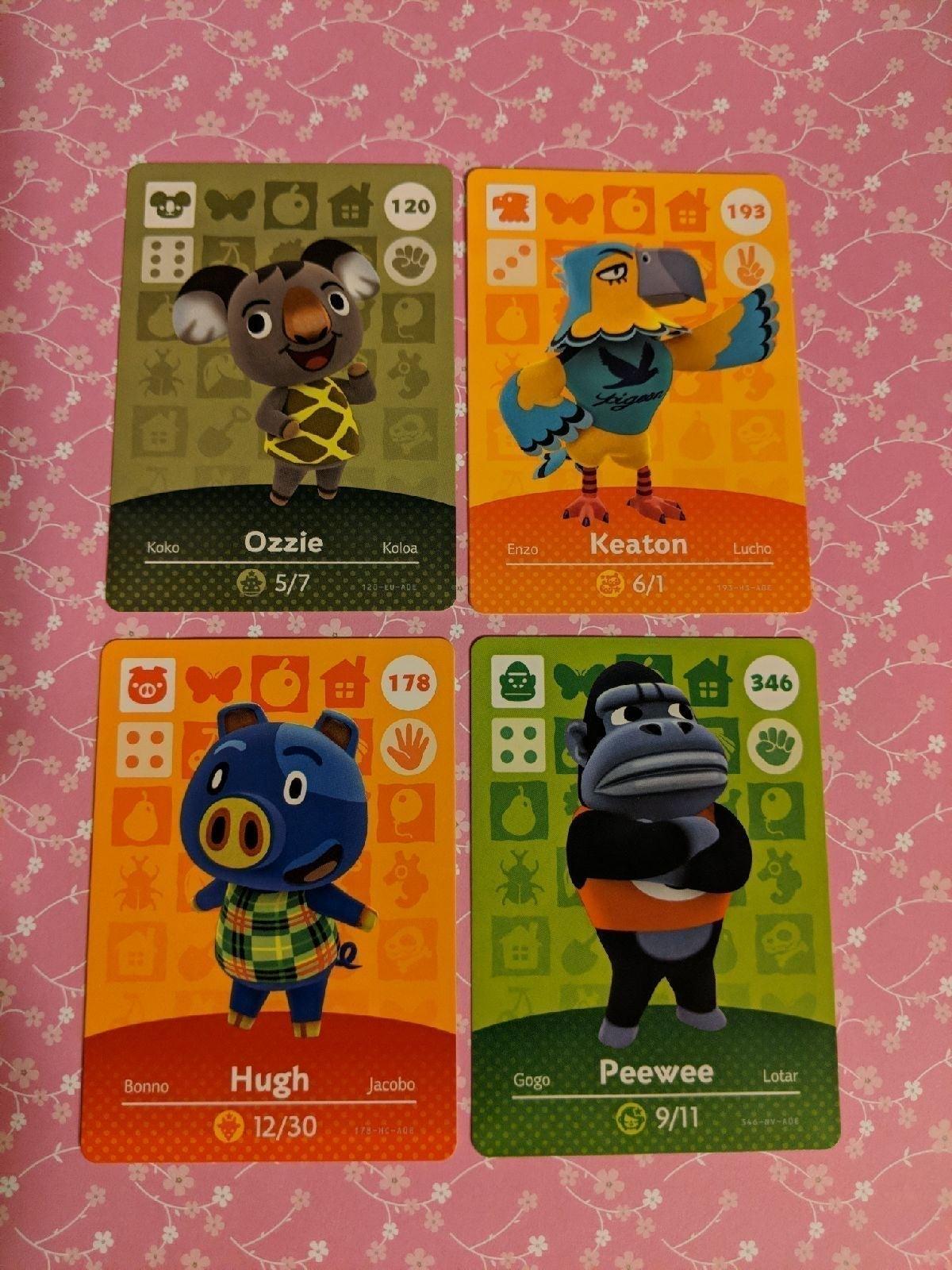 Animal Crossing Amiibo Cards lot