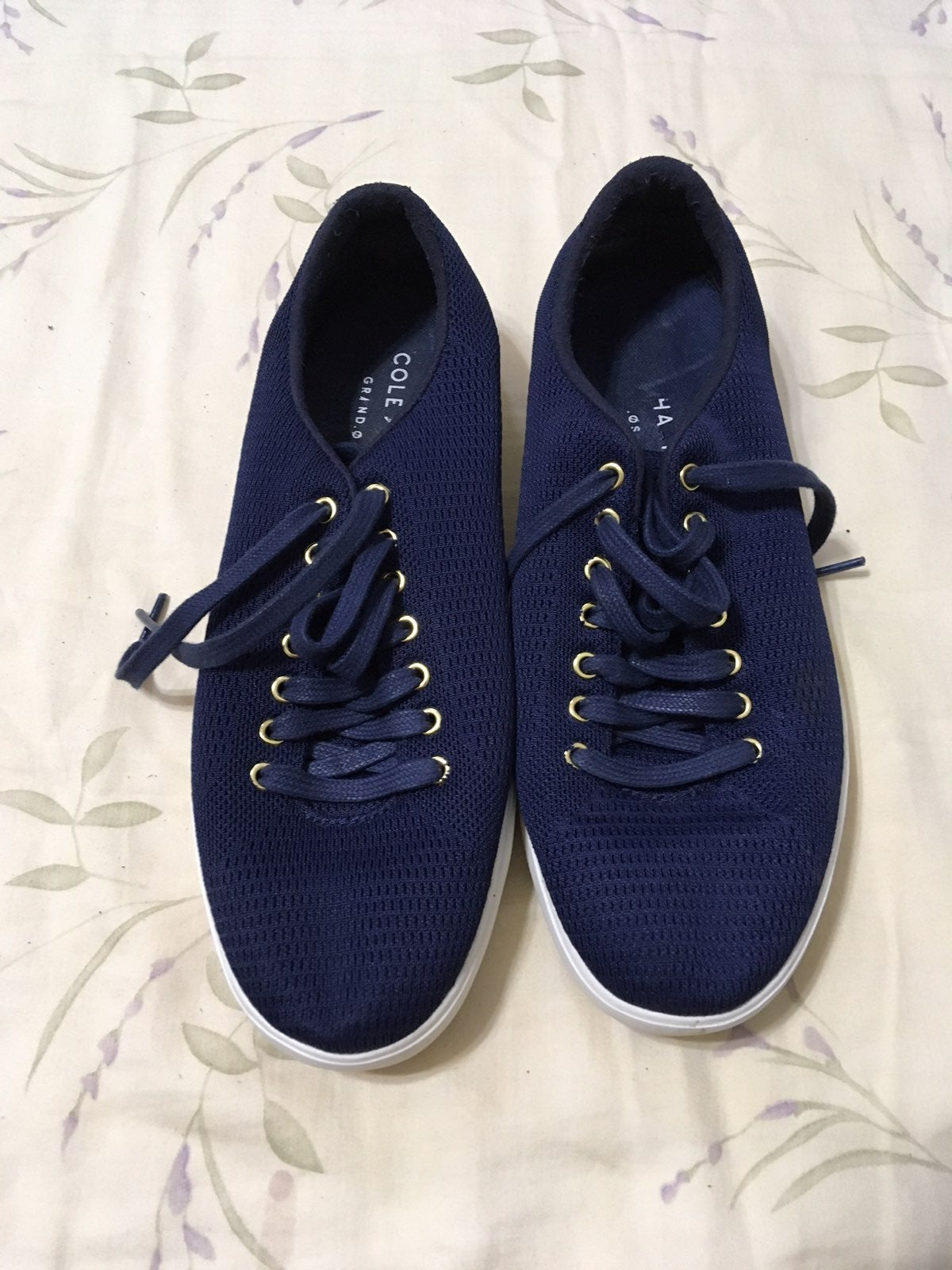 Navy Mesh Lace Sneakers