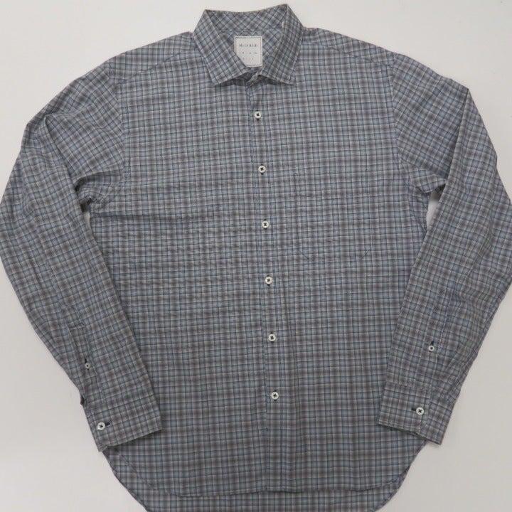 Billy Reid Plaid L/S Button Shirt Italy