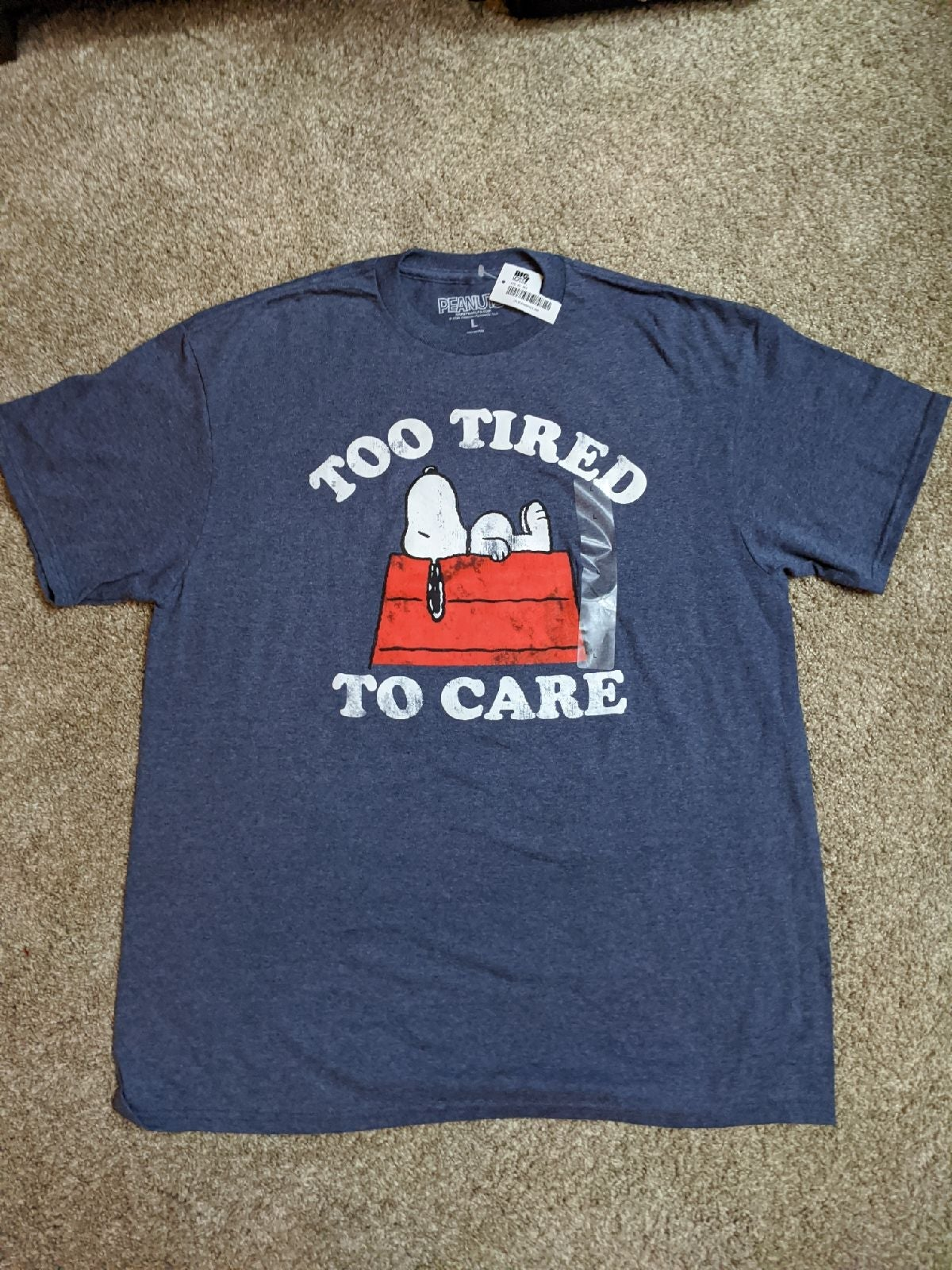 Peanuts Snoopy Too Tired to Care T-Shirt